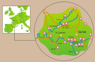 Perigord Noir Map
