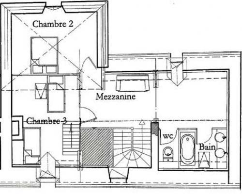 Plan de maison unifamiliale w3505 maison prix abordable for Plan maison avec jardin interieur
