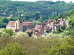 The medieval village of st Cyprien, 5 minutes walk away