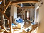 The Barn : Mezzane level at first floor ith living room