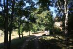 the private driveway