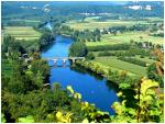 The Dordogne river, 1,5miles away, ideal for a swim