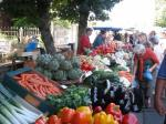 market day at St Cyprien, 200m from the house