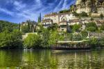 The listed village of Beynac, voted one of the most beautiful village of France