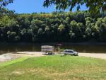 The Dordogne river, only 2km away