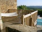 Open terrace and spectacular views over the valley