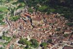 The picturesque village of St Cyprien whith shops and restaurants