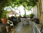 the house enjoys a lovely terrace area